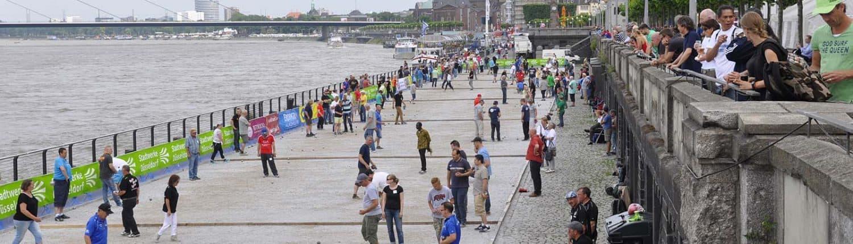 Festival de Petanque Spielflächen Rheinuferpromenade