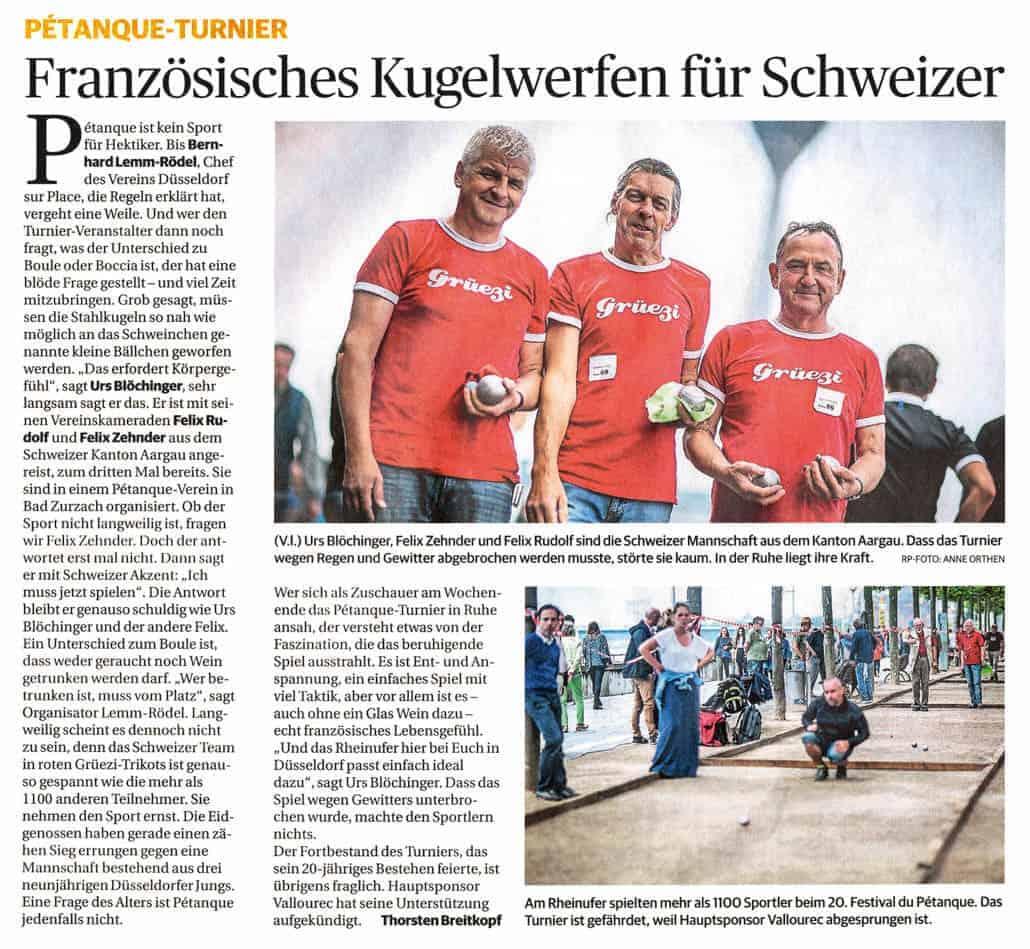 Bericht Rheinische Post 13.06.2016 klein