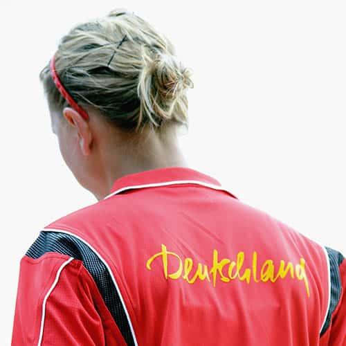 Spielerin mit DPV Deutschland Trikot