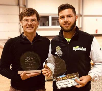 Malte und Marco NRW Hallenmeister Doublette 2018/19