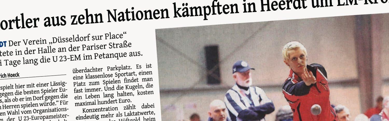 Zeitungsartikel EM Espoirs