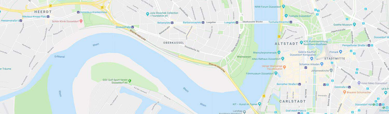 Stadtplandetail Düsseldorf farbig