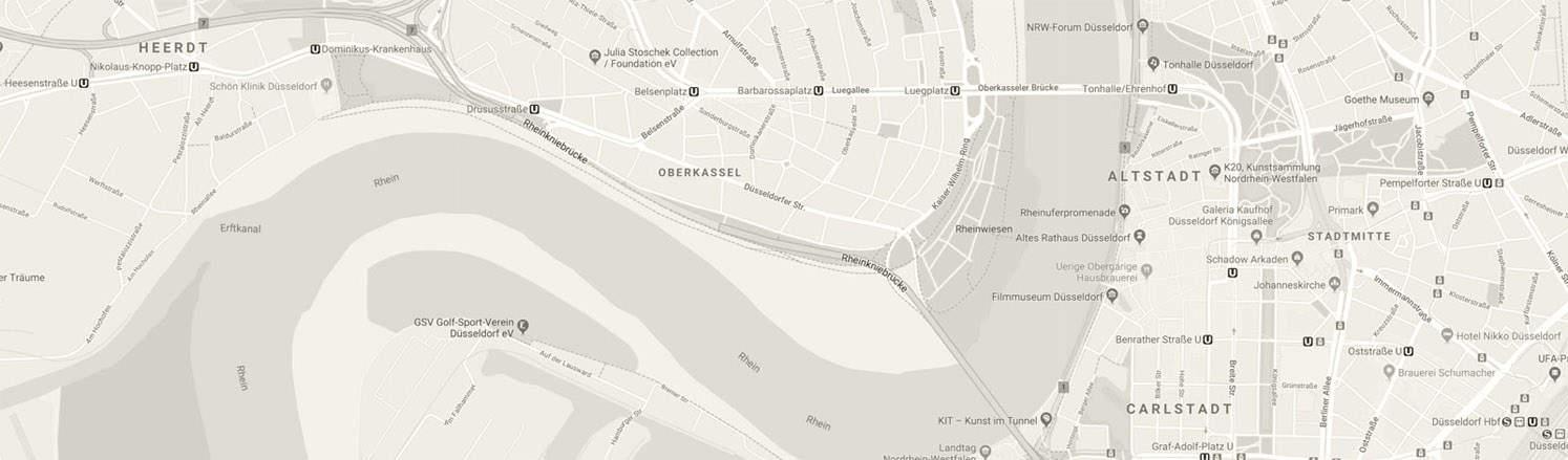 Stadtplandetail Düsseldorf sw