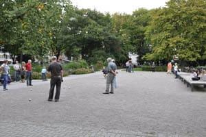 Boulespieler auf dem Kolpingplatz