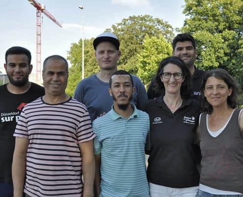 Das Team von Düsseldorf sur place bei der 2. Runde im BPV NRW Cup 2019