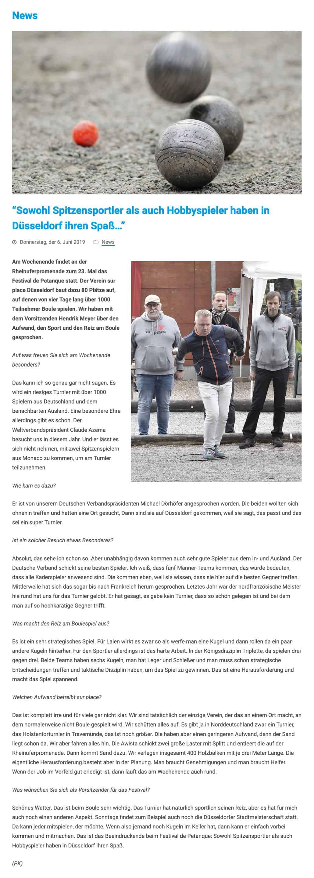 Bericht zum Festival 2019 aus Sportstadt Düsseldorf 2019-06