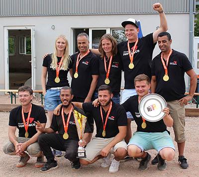 Siegerfoto Deutscher Meister 2019 Düsseldorf sur place
