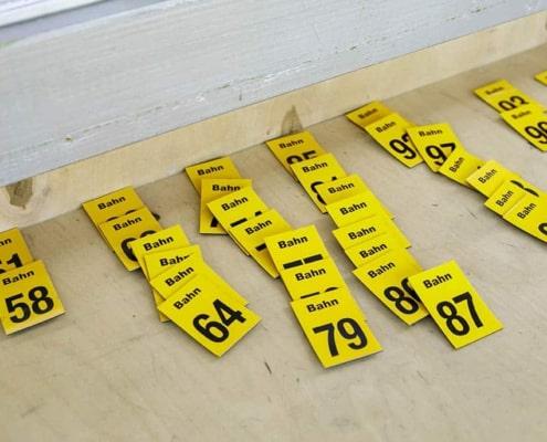 2134-ule Turnierleitung Bahnennummern